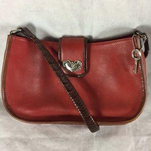 Fossil 1954 red leather shoulder bag